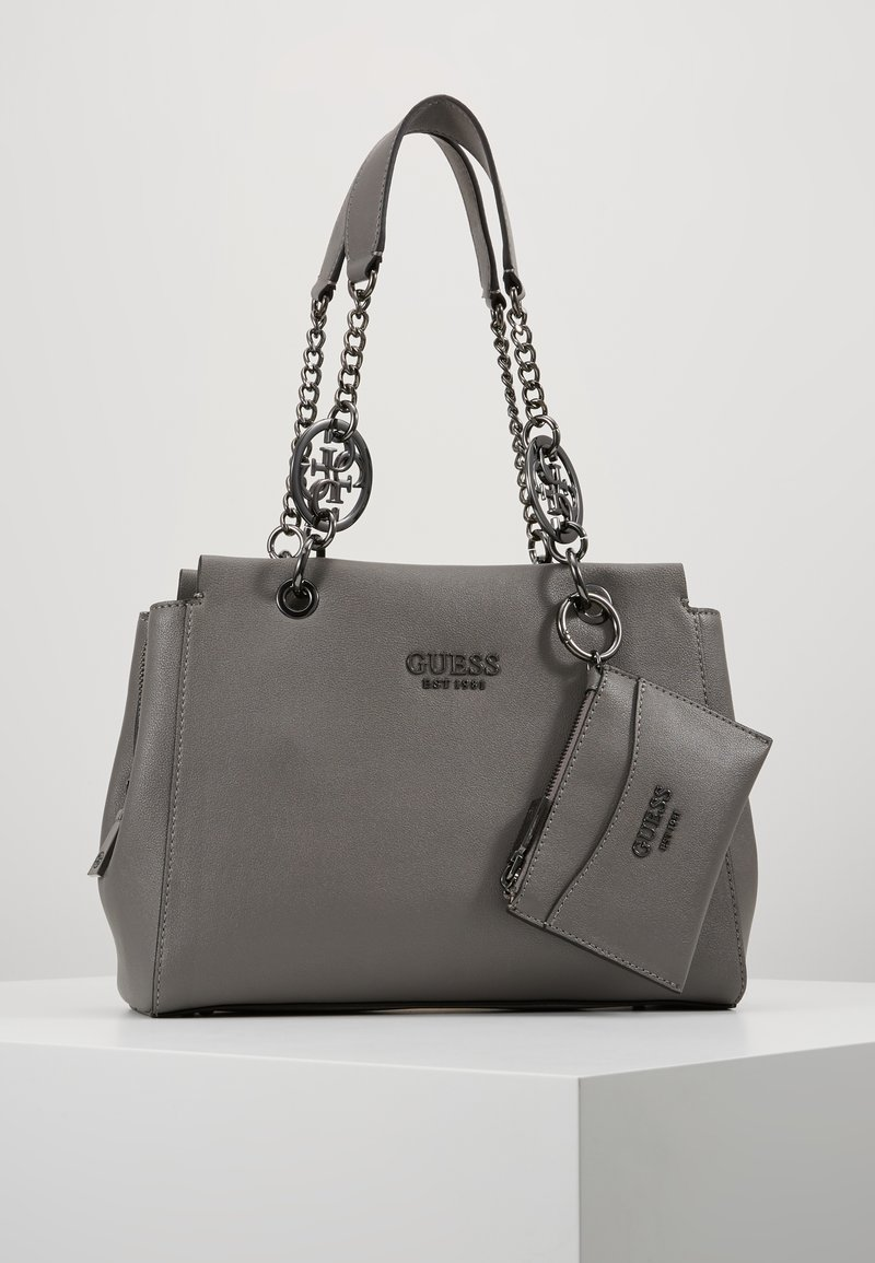 Guess - TARA GIRLFRIEND SATCHEL - Handbag - grey