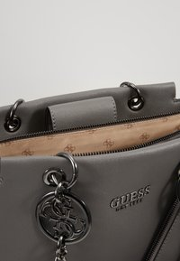 Guess - TARA GIRLFRIEND SATCHEL - Handbag - grey - 4