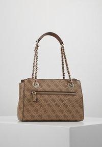 Guess - LOGO CITY SML SOCIETY SATCHEL - Handbag - brown - 2