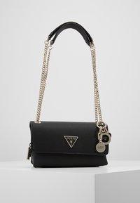 Guess - NARITA CONVERTIBLE CROSSBODY - Handbag - black - 0