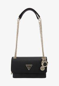Guess - NARITA CONVERTIBLE CROSSBODY - Handbag - black - 1