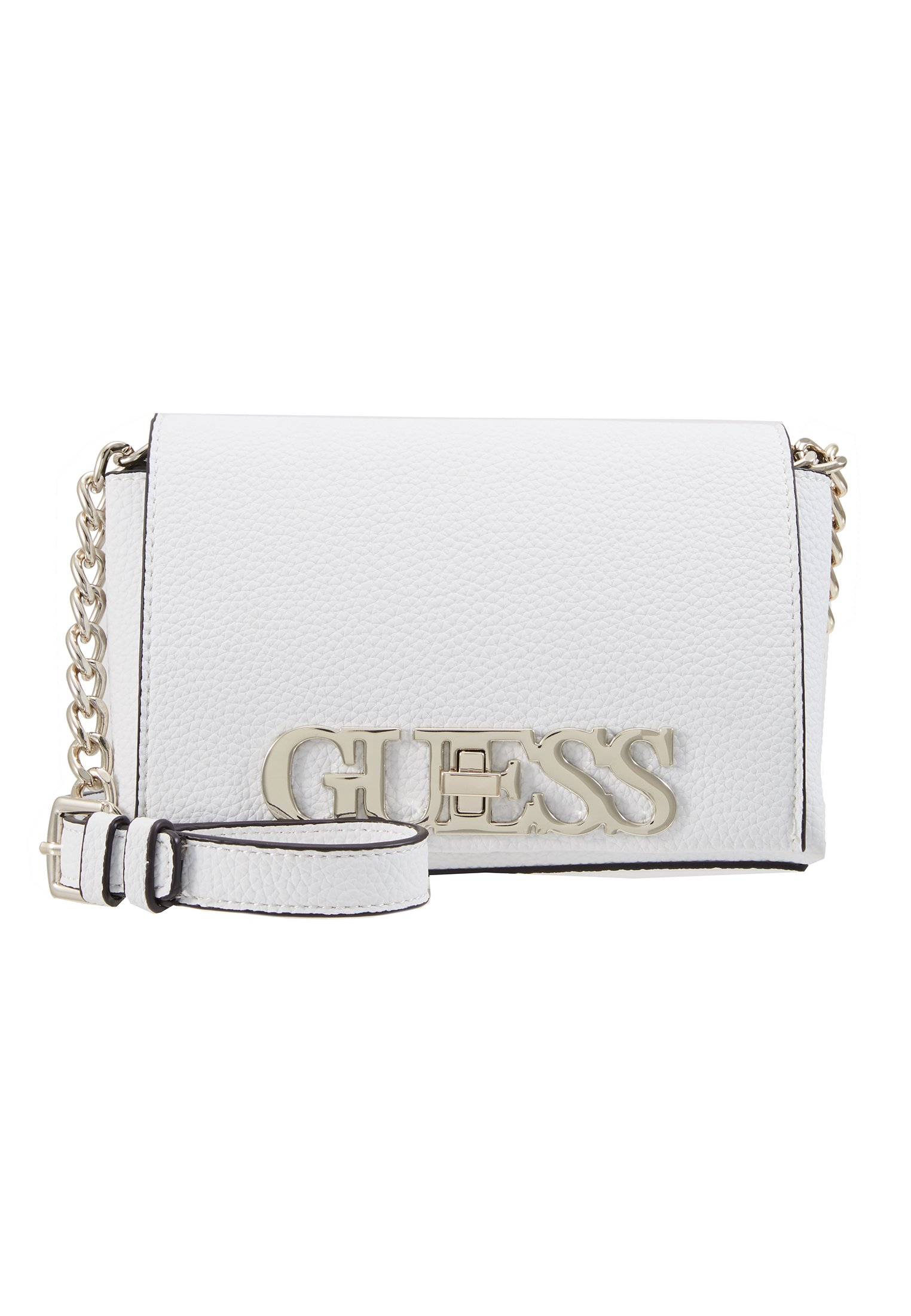 Guess Uptown Chic Mini Xbody Flap - Sac Bandoulière White
