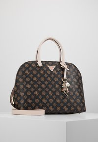 Guess - MADDY LARGE DOME SATCHEL - Handbag - brown - 0
