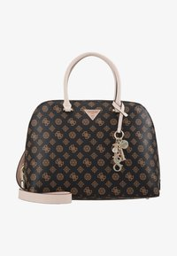 Guess - MADDY LARGE DOME SATCHEL - Handbag - brown - 1
