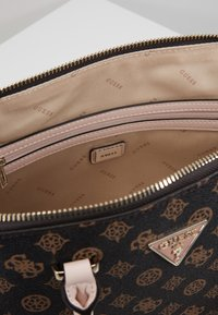 Guess - MADDY LARGE DOME SATCHEL - Handbag - brown - 5