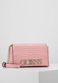 Guess - UPTOWN CHIC MINI XBODY FLAP - Schoudertas - pink - 0