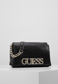 Guess - UPTOWN CHIC MINI XBODY FLAP - Umhängetasche - black - 0