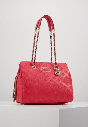 LOGO LOVE GIRLFRIEND SATCHEL - Handbag - red