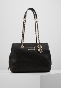Guess - LOGO LOVE GIRLFRIEND SATCHEL - Kabelka - black - 0