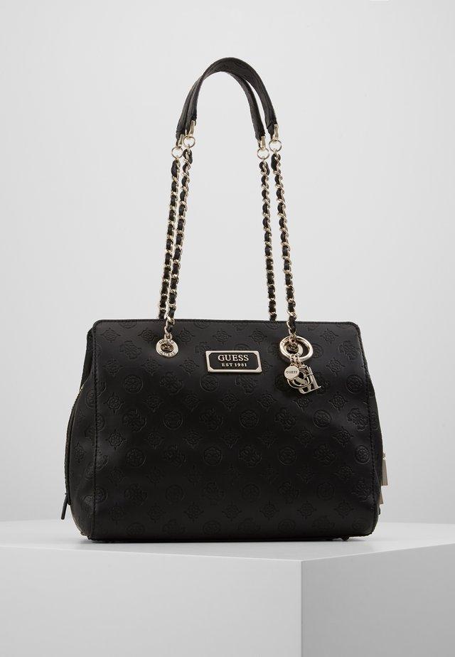LOGO LOVE GIRLFRIEND SATCHEL - Handväska - black