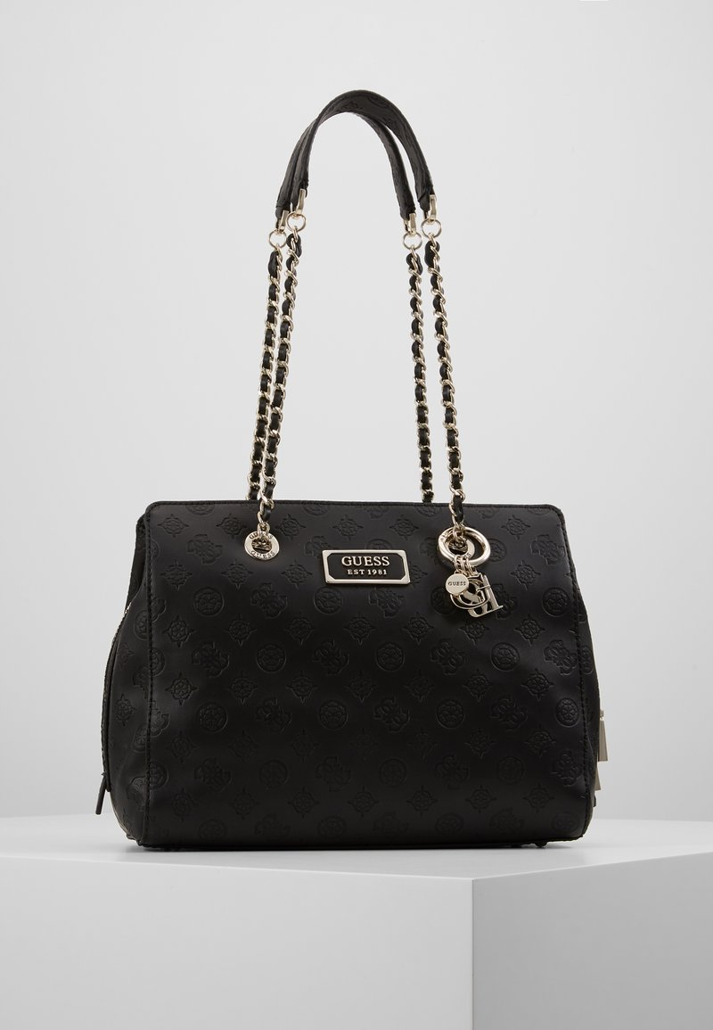 Guess - LOGO LOVE GIRLFRIEND SATCHEL - Kabelka - black