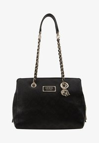 Guess - LOGO LOVE GIRLFRIEND SATCHEL - Kabelka - black - 5
