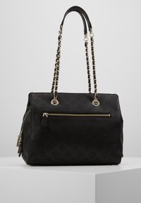 Guess - LOGO LOVE GIRLFRIEND SATCHEL - Kabelka - black - 2