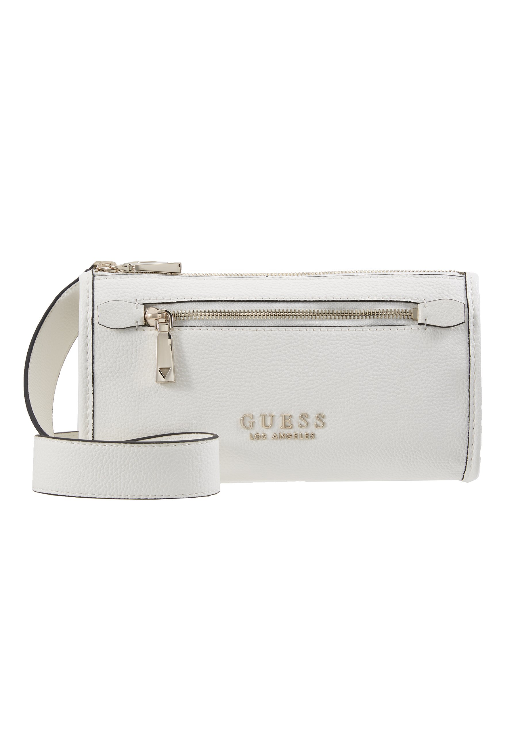 Guess LIAS DOUBLE ZIP CROSSBODY Skulderveske white