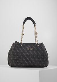Guess - LORENNA GIRLFRIEND SATCHEL - Håndveske - grey - 0