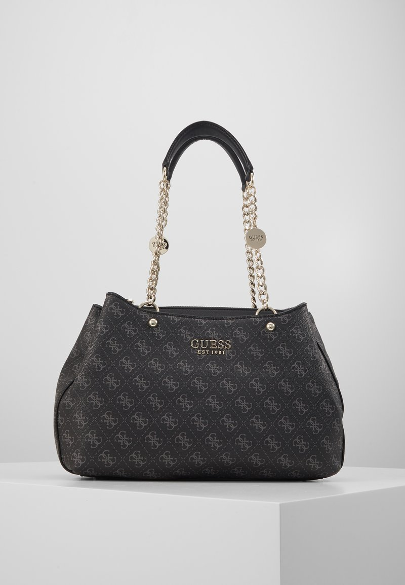 Guess - LORENNA GIRLFRIEND SATCHEL - Håndveske - grey