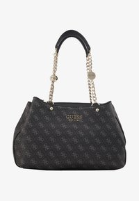 Guess - LORENNA GIRLFRIEND SATCHEL - Håndveske - grey - 5