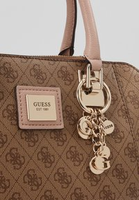 Guess - CANDACE SOCIETY SATCHEL - Handtasche - brown - 6