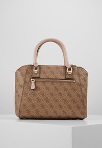 Guess - CANDACE SOCIETY SATCHEL - Handtasche - brown - 2