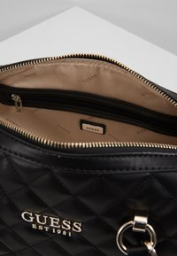 Guess - MELISE BOX SATCHEL - Borsa a mano - black - 4