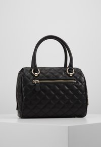 Guess - MELISE BOX SATCHEL - Borsa a mano - black - 2