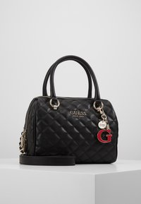 Guess - MELISE BOX SATCHEL - Borsa a mano - black - 0