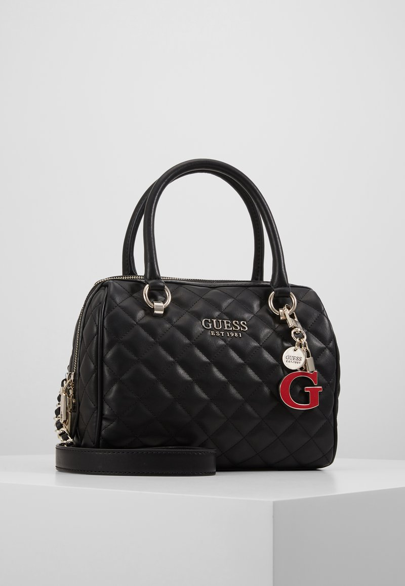 Guess - MELISE BOX SATCHEL - Borsa a mano - black