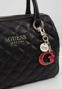 Guess - MELISE BOX SATCHEL - Borsa a mano - black - 6