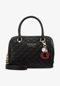 Guess - MELISE BOX SATCHEL - Borsa a mano - black - 5