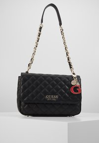 Guess - MELISE SHOULDER BAG - Handtas - black - 0