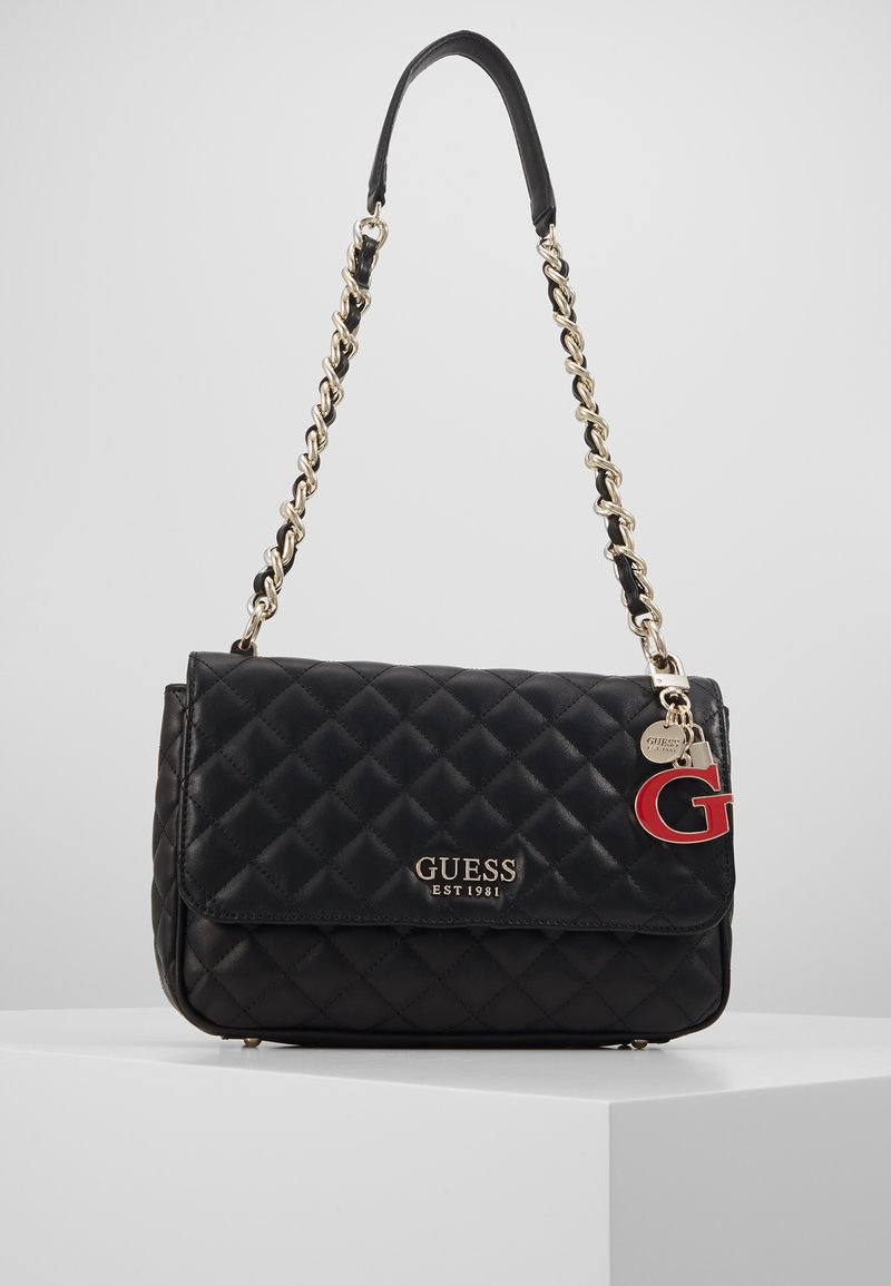 Guess - MELISE SHOULDER BAG - Handtas - black
