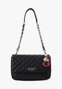 Guess - MELISE SHOULDER BAG - Handtas - black - 1