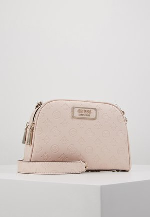 LOGO LOVE CROSSBODY TOP ZIP - Skulderveske - pink