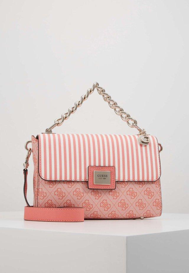 CANDACE TOP HANDLE FLAP - Handbag - coral