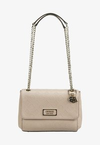 Guess - LOGO LOVE CNVRTBLE XBODY FLAP - Across body bag - blush - 1