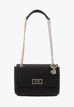 LOGO LOVE CNVRTBLE XBODY FLAP - Across body bag - black