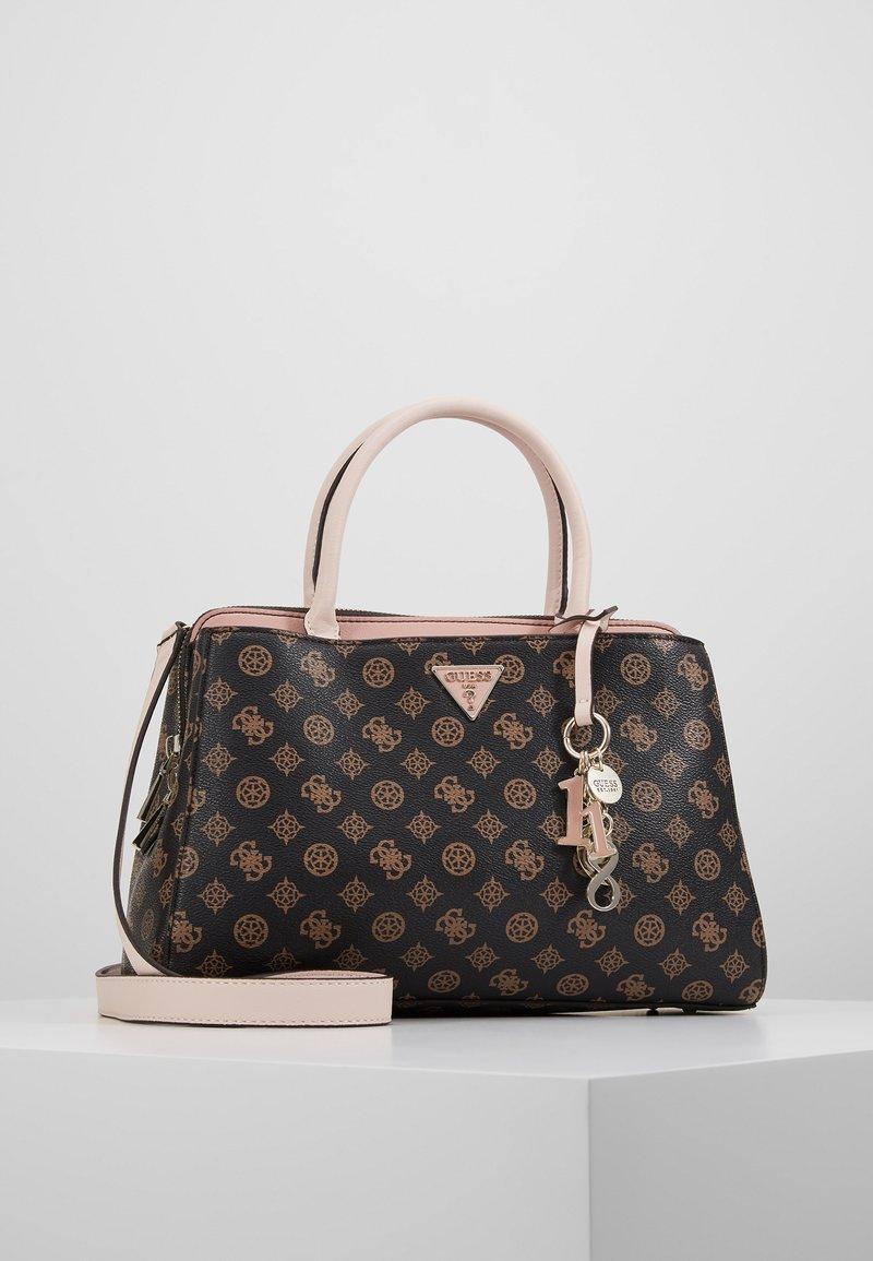 Guess - MADDY GIRLFRIEND SATCHEL - Håndtasker - brown
