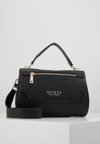 Guess - LIAS TOP HANDLE FLAP - Handtas - black - 1