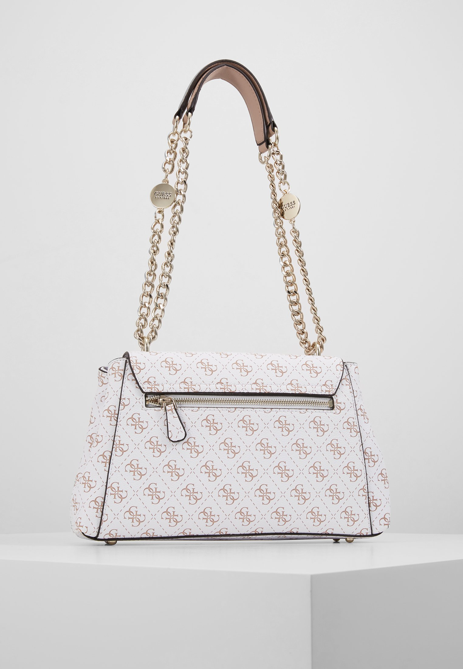 Guess Lorenna Shoulder Bag - Sac À Main White