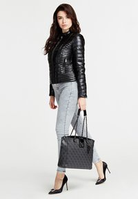 Guess - SHOPPER LOGO CITY ALLOVER - Tote bag - grey - 1
