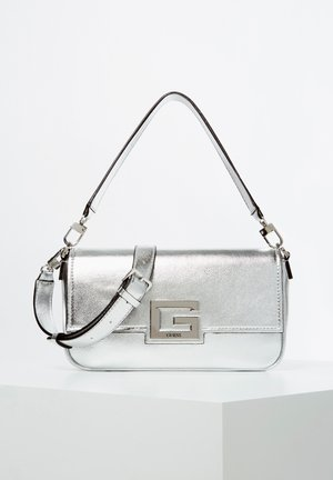 SCHULTERTASCHE BRIGHTSIDE METALLIC-OPTIK - Across body bag - silver