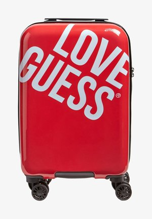 TROLLEY HAIDEE PRINT LOGO - Wheeled suitcase - red