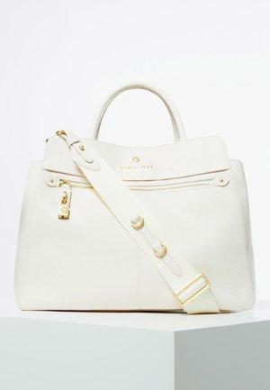 GUESS HENKELTASCHE EVE LUXE ECHTES LEDER - Handtasche - white
