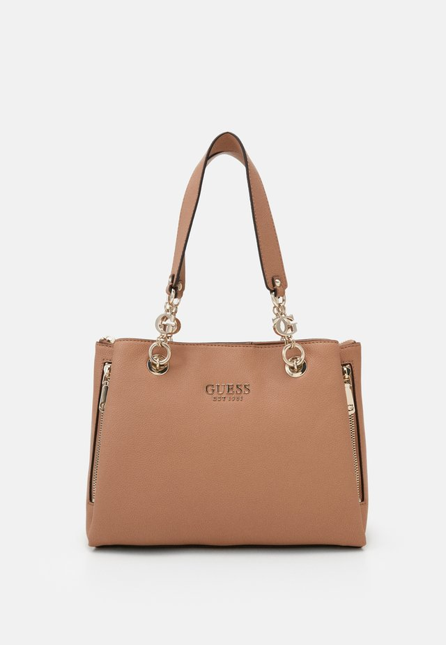 CHAIN GIRLFRIEND SATCHEL - Handtas - tan