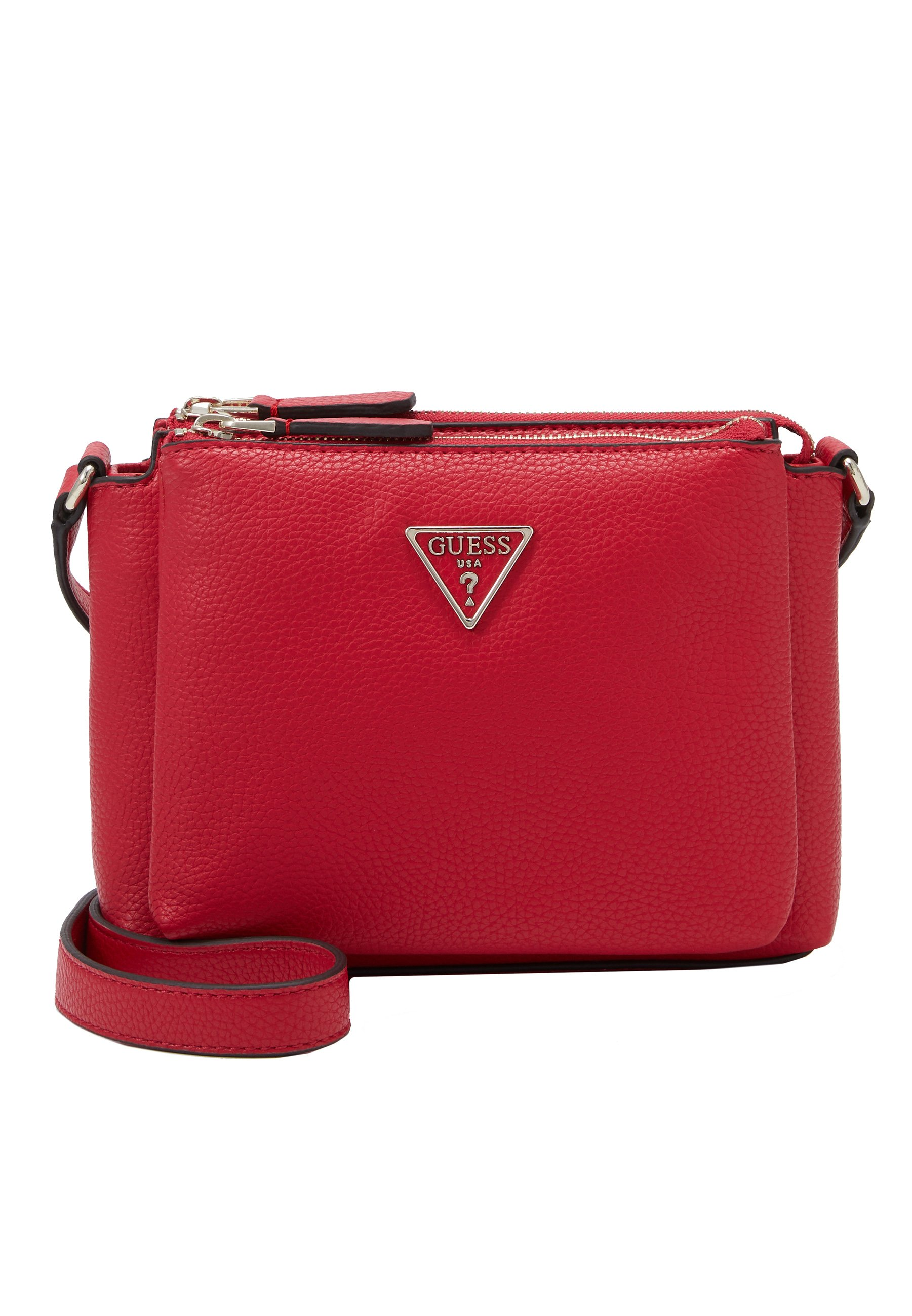 Guess Becca Double Zip Crossbody - Borsa A Tracolla Blush Multi dymJw