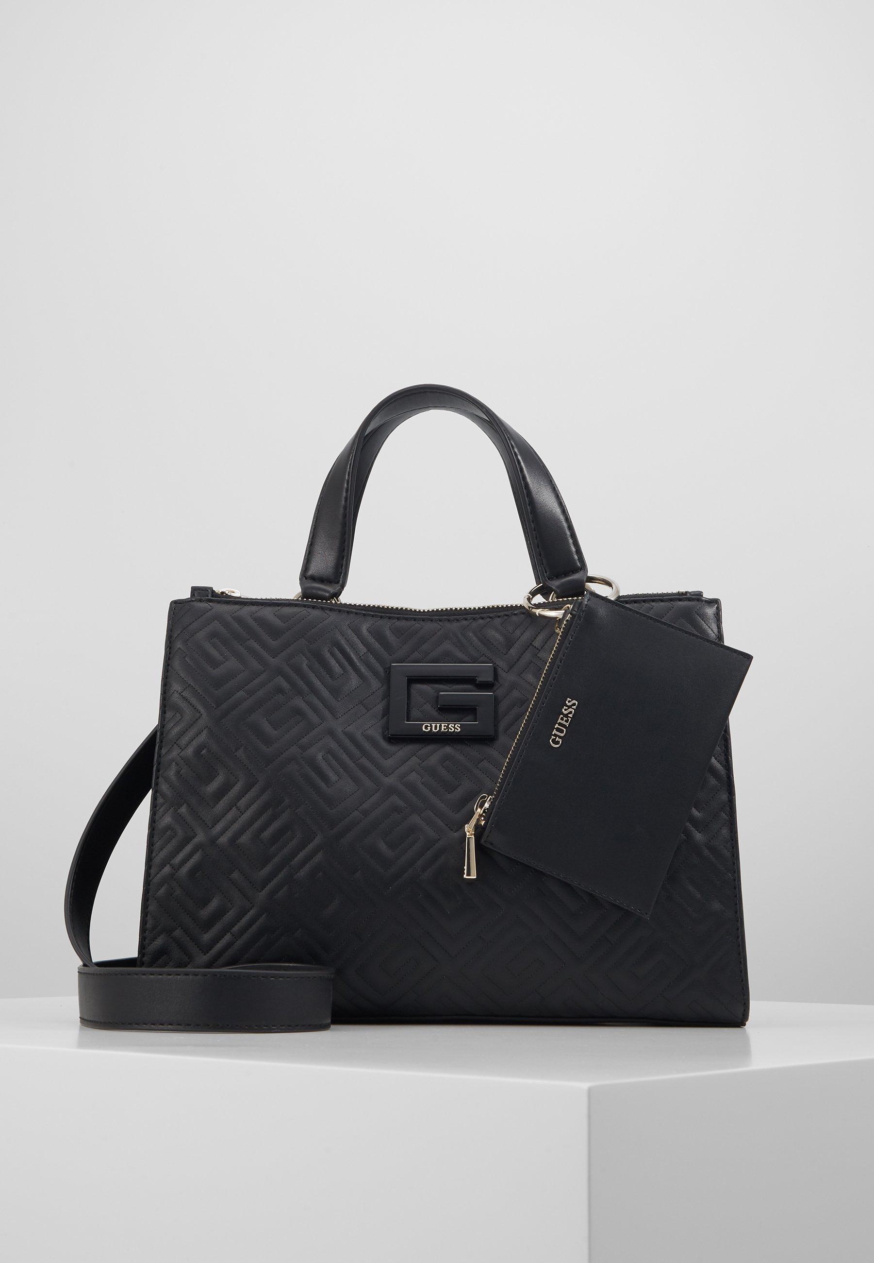 Guess JANAY STATUS SATCHEL - Shopping bag - black 0d6OkYeo