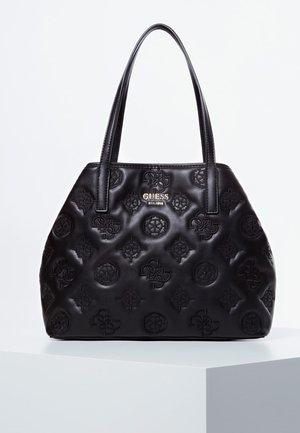 GUESS SHOPPER VIKKY GESTICKTES LOGO - Shopping bag - schwarz