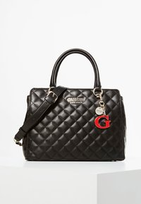 Guess - HANDTAS MELISE DOORGESTIKT - Handbag - black - 0