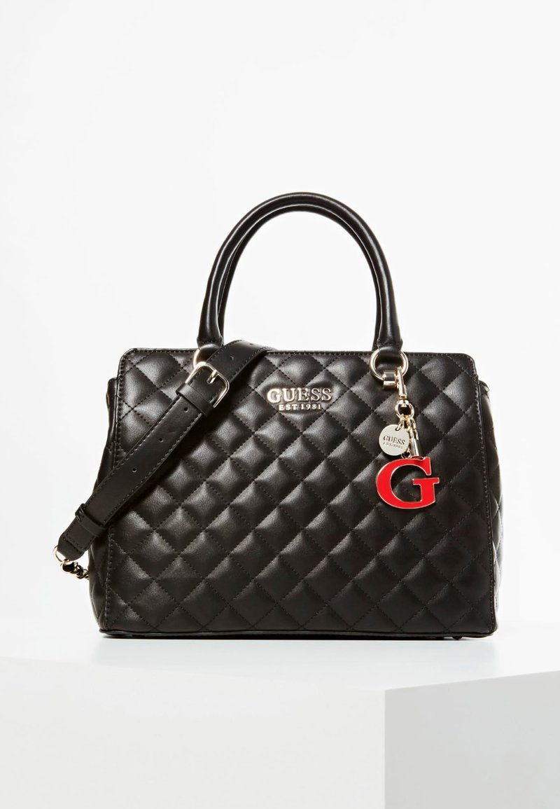 Guess - HANDTAS MELISE DOORGESTIKT - Handbag - black