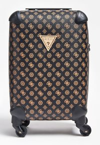 Guess - GUESS TROLLEY WILDER LOGO PEONY - Valise à roulettes - braun - 0